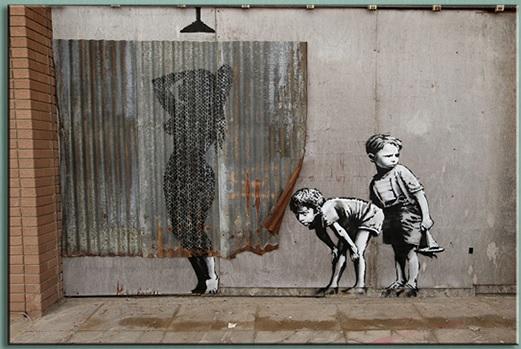 1-Pcs-Retro-Banksy-Art-Boys-Peeping-Canvas-font-b-Painting-b-font-Abstract-Nude-Women